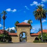 A photo of the Stanford University campus in Palo Alto, California.