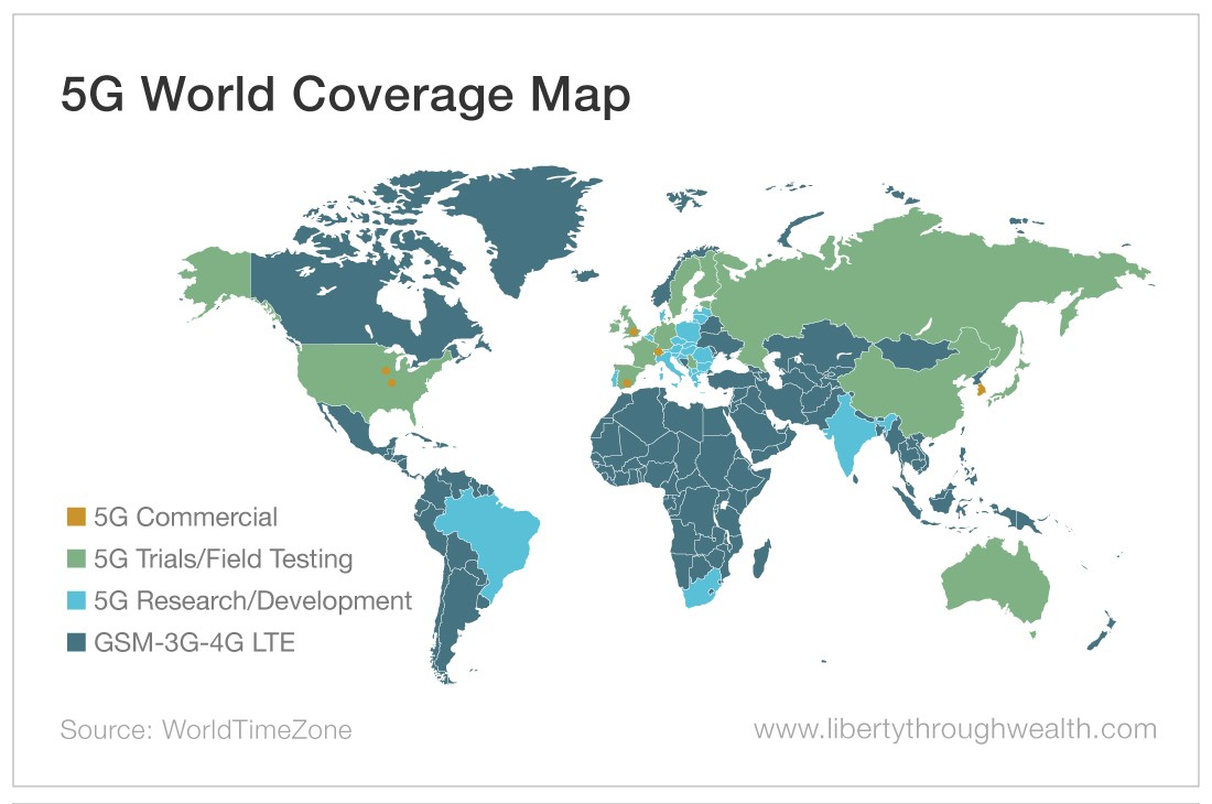 5G World Coverage Map