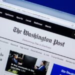 An image showing the homepage of The Washington Post website.