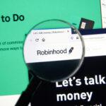 A photo showing the Robinhood website on a computer screen.