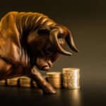 A bull symbolizes the market's recent spike