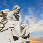 A statue of Socrates, the Greek philosopher