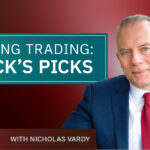A title card for the video series Swing Trading: Nick's Picks.