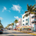 A photo of Ocean Drive, a beachfront area in Miami, Florida