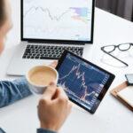An investor studies a stock market chart