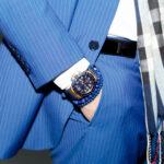 A man wears an expensive watch