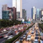 A snapshot of rush hour in Jakarta, Indonesia